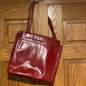 Wilson red leather purse